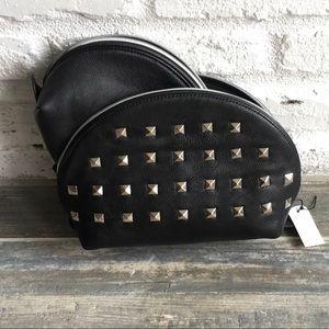 Studded cosmetic bag